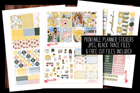 Honey Pot Planner Kit | PRINTABLE PLANNER STICKERS