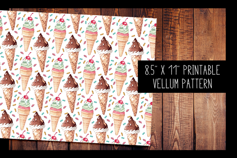 Ice Cream Vellum | PRINTABLE VELLUM PATTERN