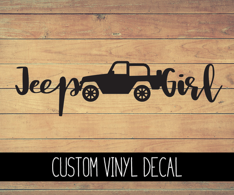 Jeep Girl Vinyl Decal