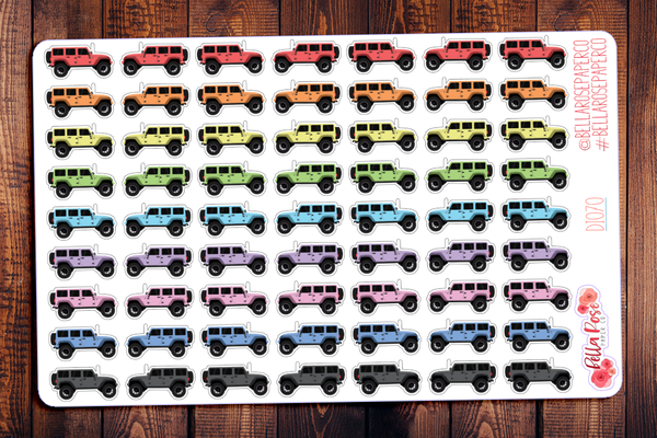 Jeep Wrangler Planner Stickers DI070