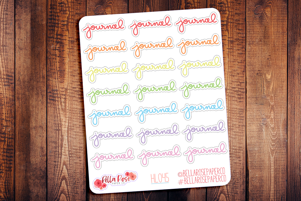Journal Hand Lettering Planner Stickers HL045