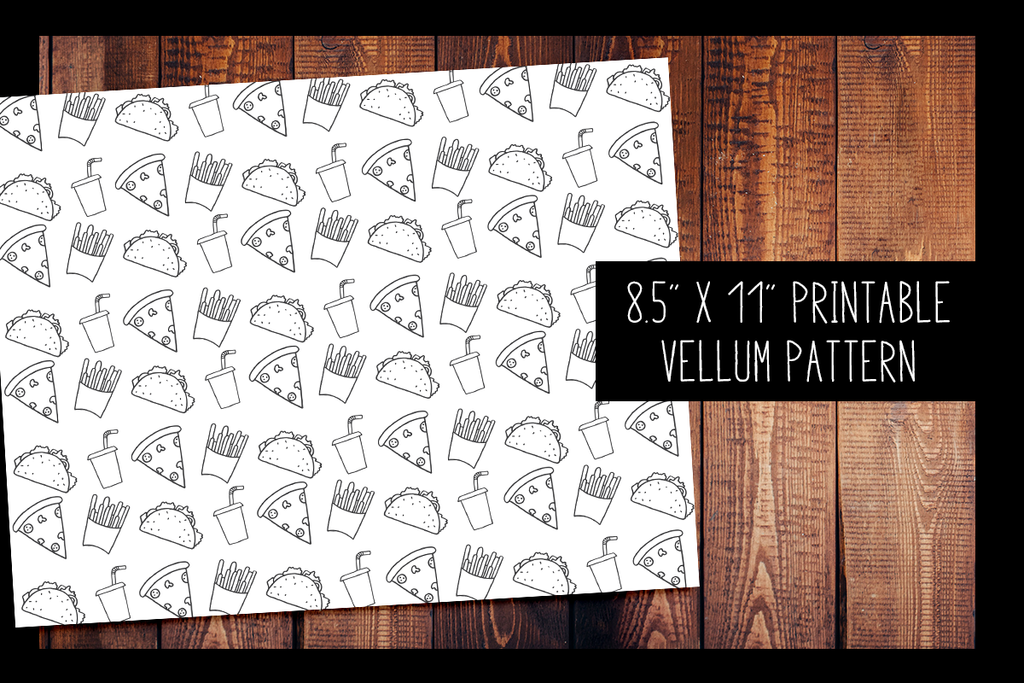 Junk Food Vellum | PRINTABLE VELLUM PATTERN