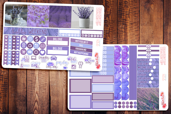 Lavender Photo Mini Happy Planner Sticker Kit SP304