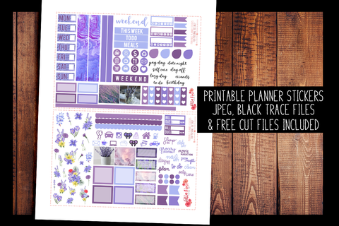 Lavender Photo Hobonichi Weeks Kit | PRINTABLE PLANNER STICKERS