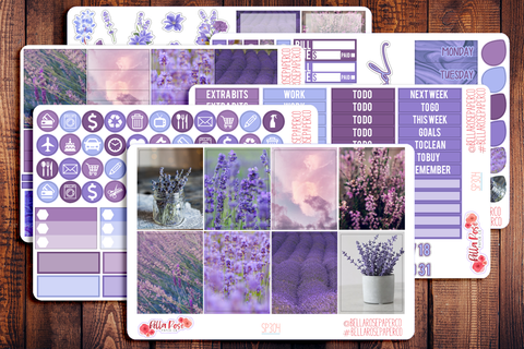 Lavender Photo Planner Sticker Kit SP304