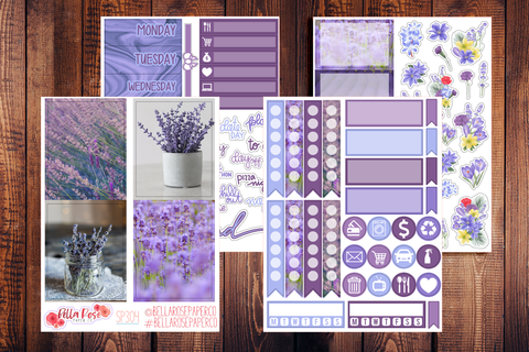 Lavender Photo Mini Sticker Kit SP304