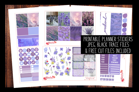 Lavender Photo Planner Kit | PRINTABLE PLANNER STICKERS