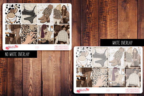 Leopard Love Planner Sticker Kit F404
