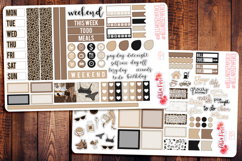 Leopard Love Hobonichi Weeks Sticker Kit F404
