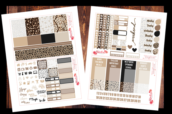 Leopard Love Planner Kit | PRINTABLE PLANNER STICKERS