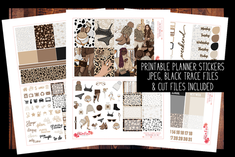 Leopard Love Happy Planner Kit | PRINTABLE PLANNER STICKERS