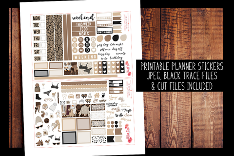 Leopard Love Hobonichi Weeks Kit | PRINTABLE PLANNER STICKERS