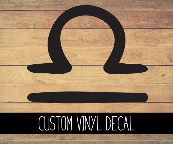 Libra Sign Vinyl Decal