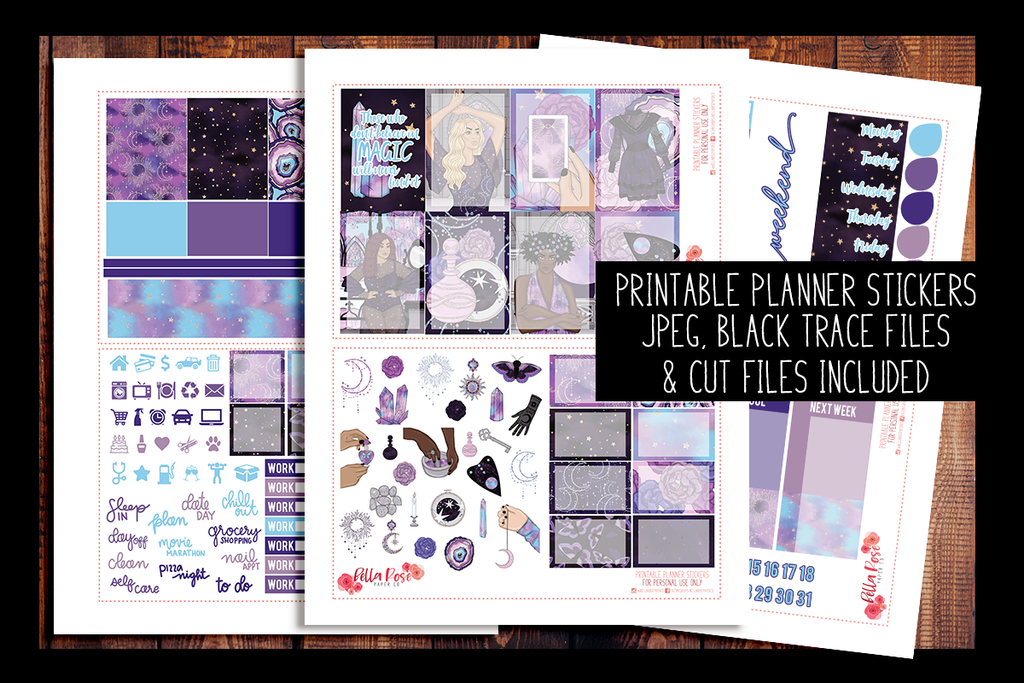 Believe in Magic Happy Planner Kit | PRINTABLE PLANNER STICKERS