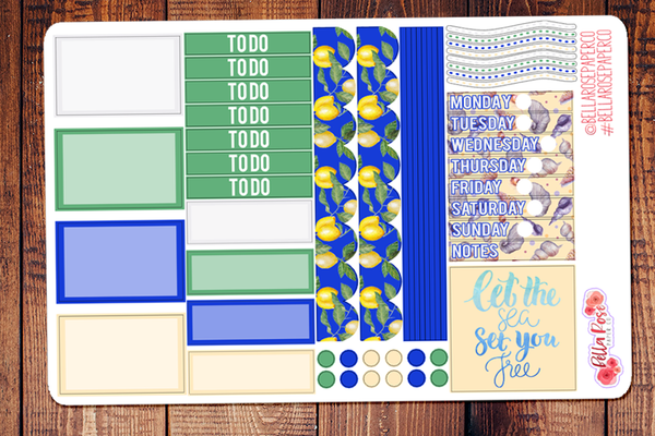 Mediterranean Mini Happy Planner Sticker Kit
