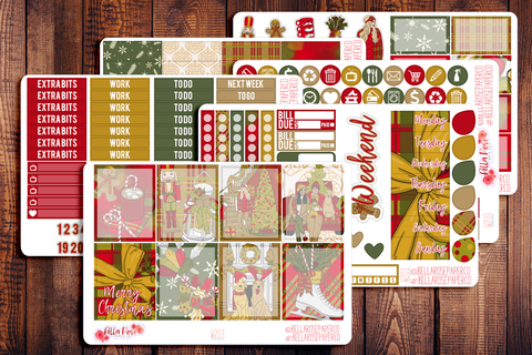 Merry Christmas Planner Sticker Kit W203
