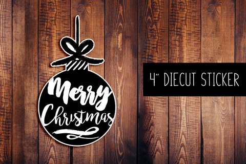 Merry Christmas Diecut Sticker