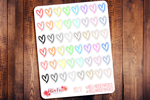 Heart Mini Icon Planner Stickers MI017