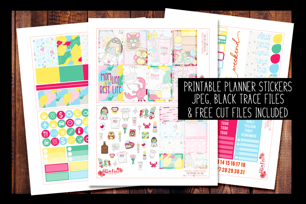 Mom Life Happy Planner Kit | PRINTABLE PLANNER STICKERS