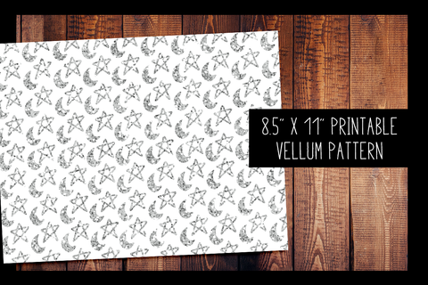Moons and Stars Vellum | PRINTABLE VELLUM PATTERN