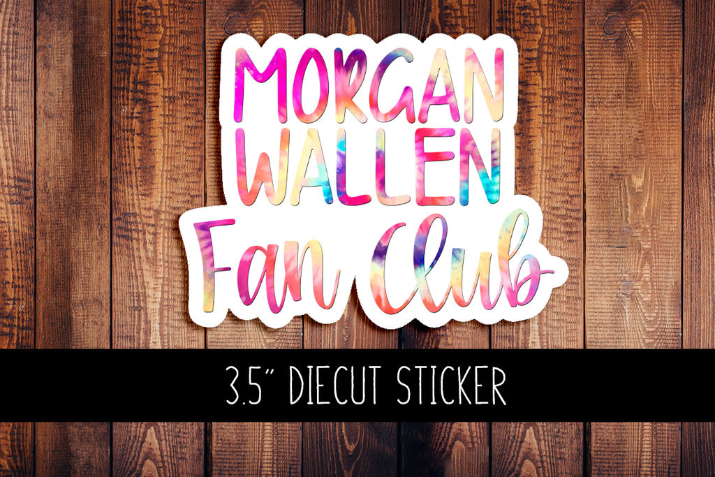 Morgan Wallen Fanclub Diecut Sticker