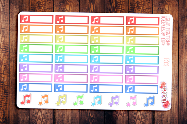 Music Label Planner Stickers B034