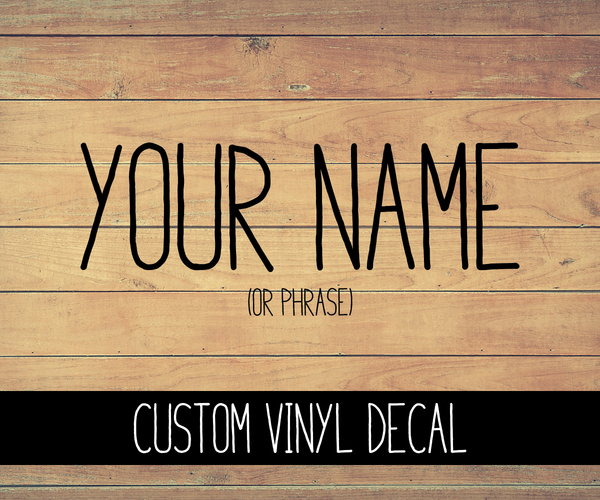 Rae Dunn Inspired Custom Name Vinyl Decal
