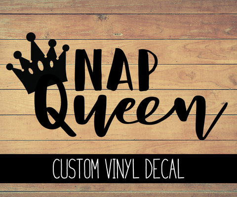 Nap Queen Vinyl Decal