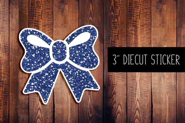 Bow Glitter Diecut Sticker