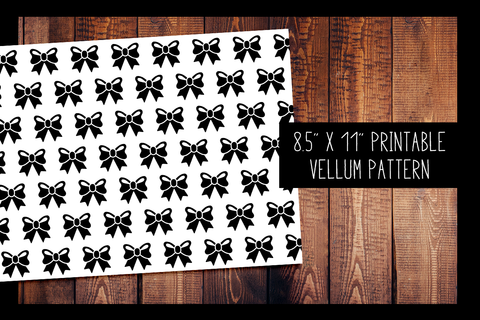 Bow Vellum | PRINTABLE VELLUM PATTERN