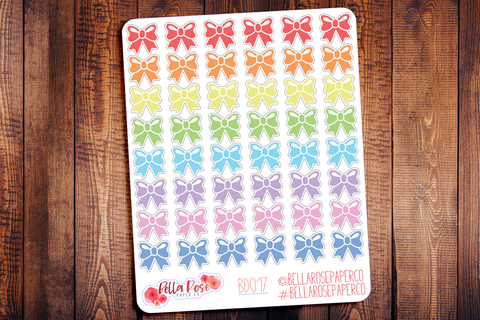 Bow Planner Stickers BD017