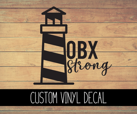 OBX Strong Vinyl Decal