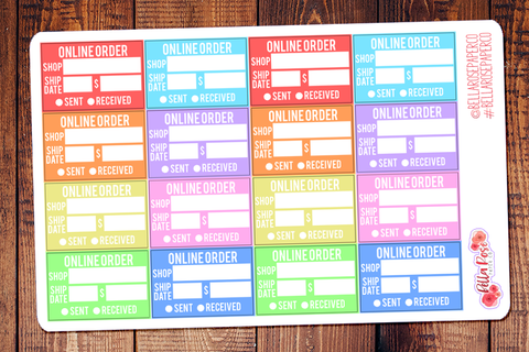 Online Order Tracking Planner Stickers