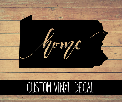 Pennsylvania Home Vinyl Decal