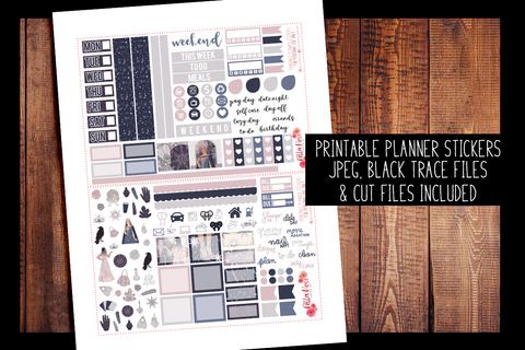 Palm Reader Hobonichi Weeks Kit | PRINTABLE PLANNER STICKERS