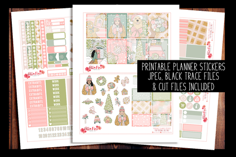Pastel Holidays Planner Kit | PRINTABLE PLANNER STICKERS