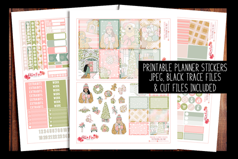 Pastel Holidays Happy Planner Kit | PRINTABLE PLANNER STICKERS