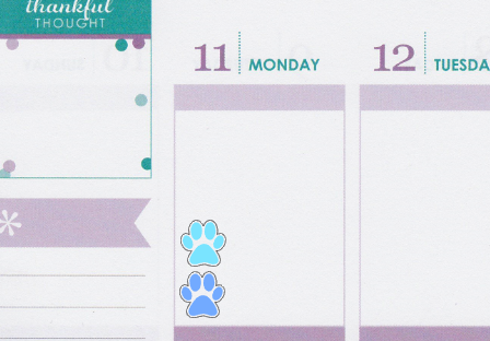 Paw Planner Stickers