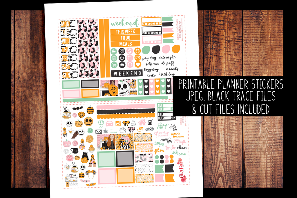 Halloween Sweets Hobonichi Weeks Kit | PRINTABLE PLANNER STICKERS