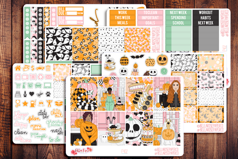 Halloween Sweets Planner Sticker Kit F402