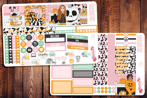 Halloween Sweets Mini Happy Planner Sticker Kit F402