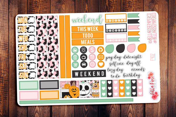 Halloween Sweets Hobonichi Weeks Sticker Kit F402