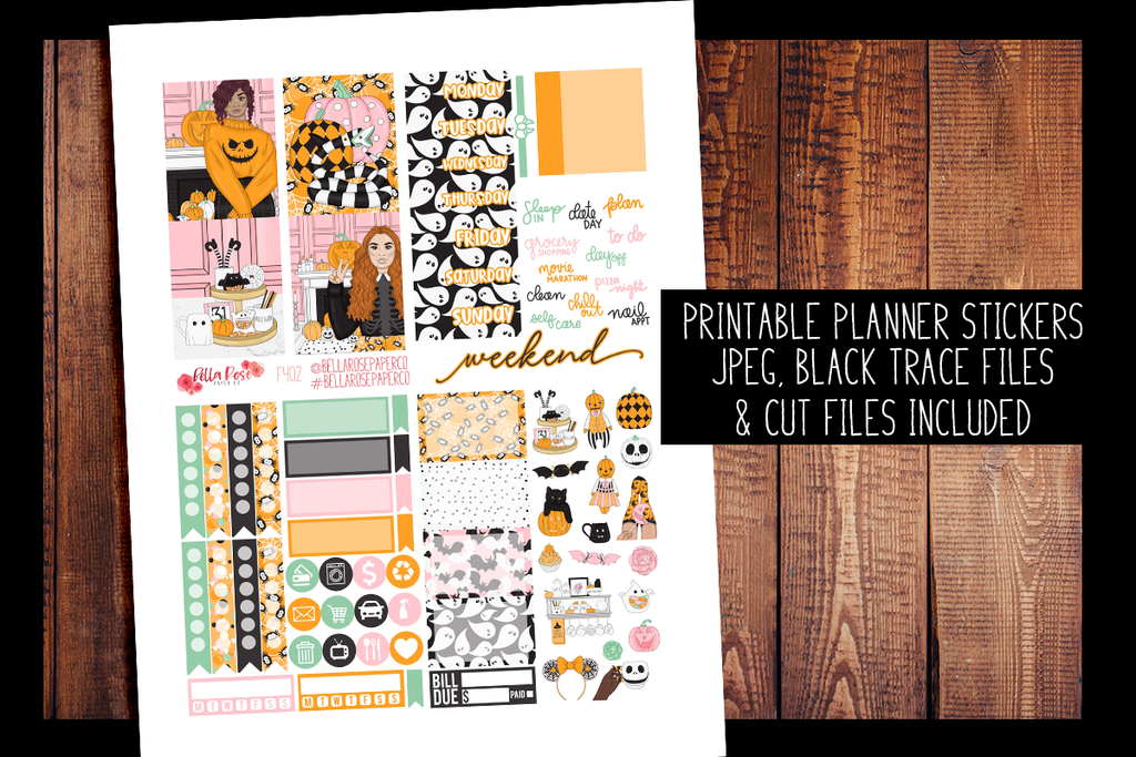 Halloween Sweets Mini Planner Kit | PRINTABLE PLANNER STICKERS