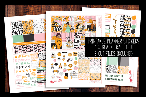 Halloween Sweets Happy Planner Kit | PRINTABLE PLANNER STICKERS