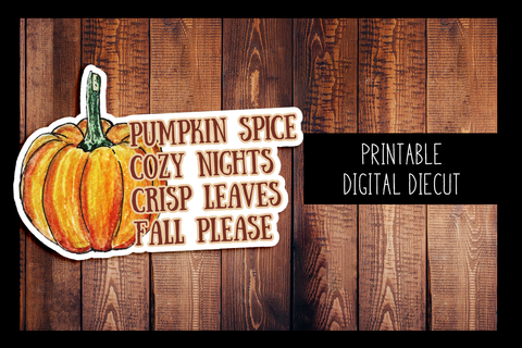 Fall Please Diecut | PRINTABLE DIGITAL DIECUT
