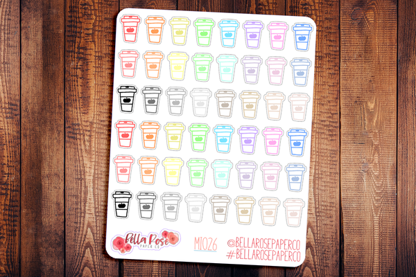 Pumpkin Spice Latte Mini Icon Planner Stickers MI026