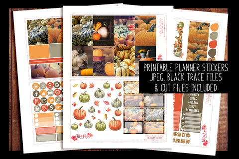 Pumpkin Photography Happy Planner Kit | PRINTABLE PLANNER STICKERS