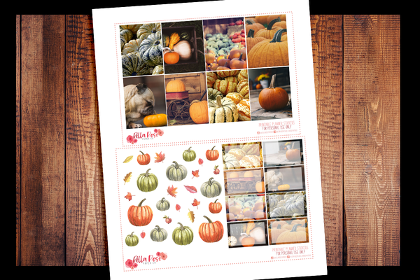 Pumpkin Photography Planner Kit | PRINTABLE PLANNER STICKERS
