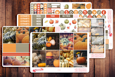 Pumpkin Photography Planner Sticker Kit F207