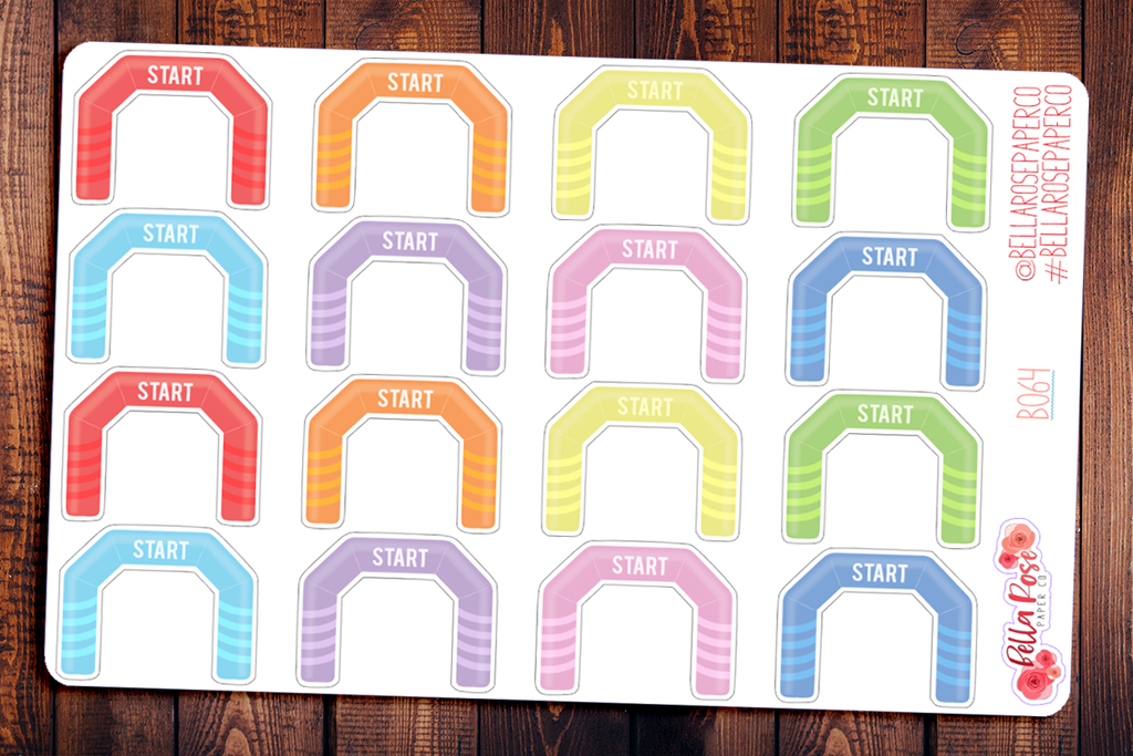 Run Starting Line Planner Stickers B064